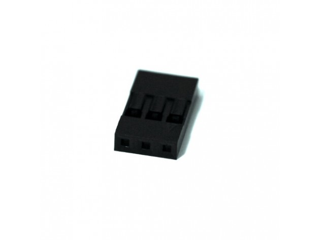 Crimp connector housing 1x3-pin