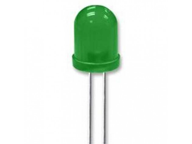LED Diffused Green 10 mm