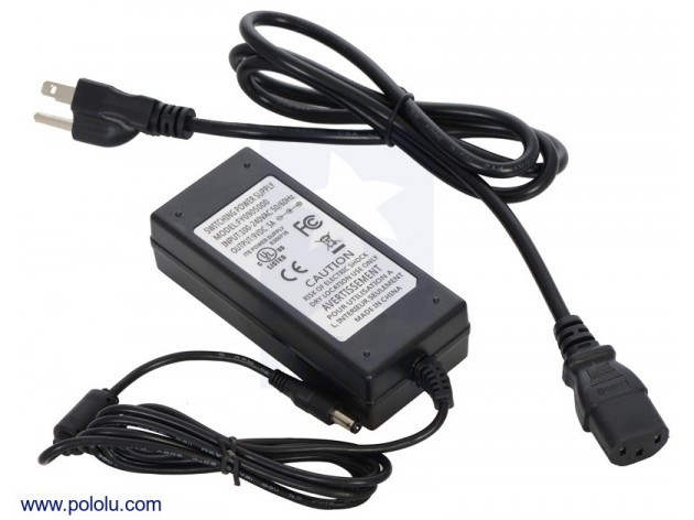 Wall Adapter Power Supply 9VDC 5A 5.5x2.1 Barrel Jack